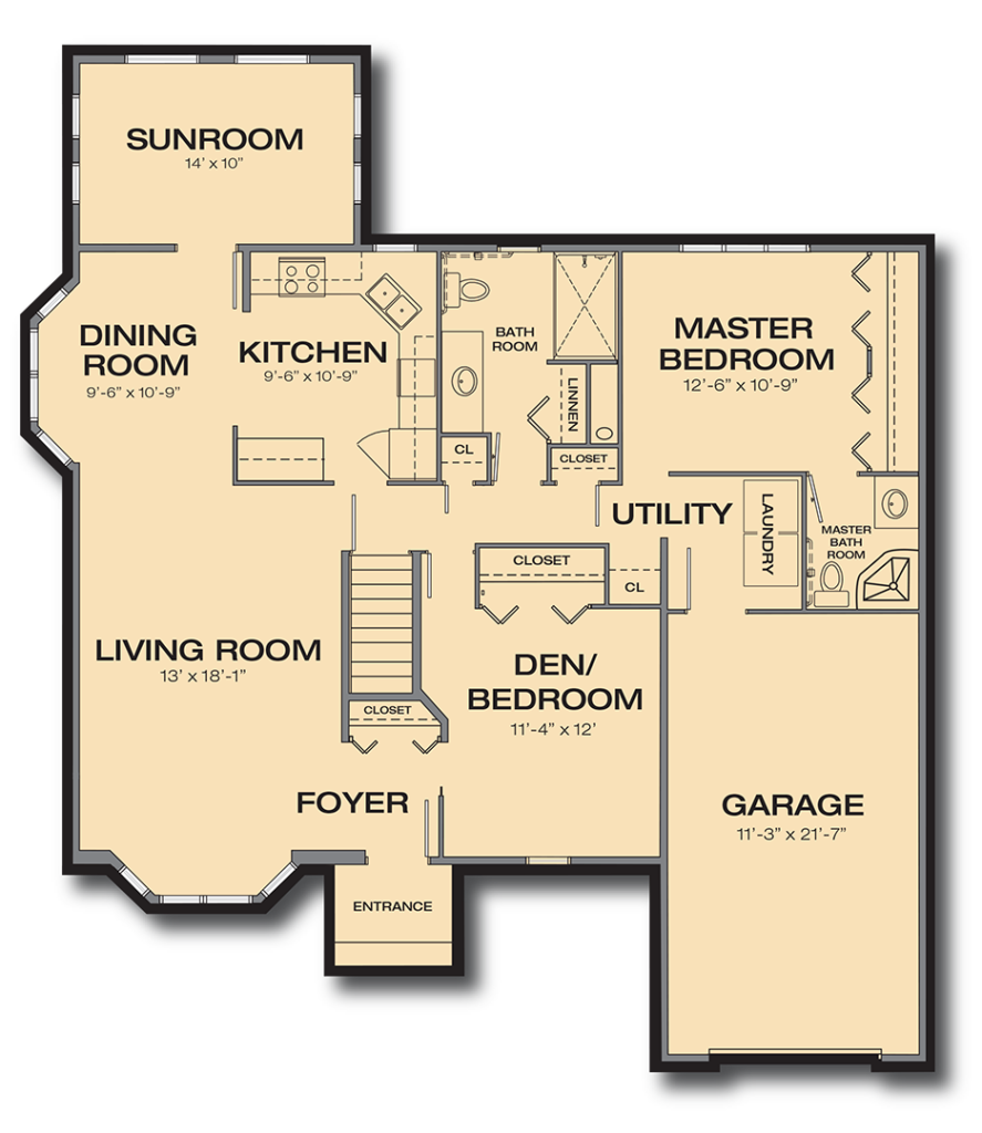 Willow Ridge Homes Duplex Homes within Wesley Willows Senior Living – Rockford Homes Floor Plans