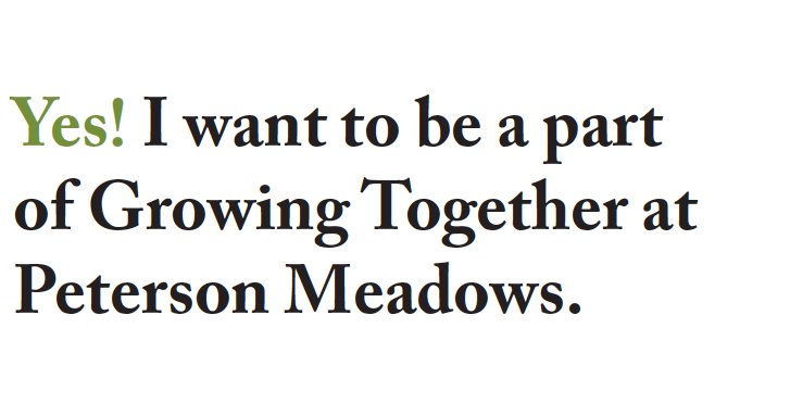 Yes! I want to be a part of Growing Together