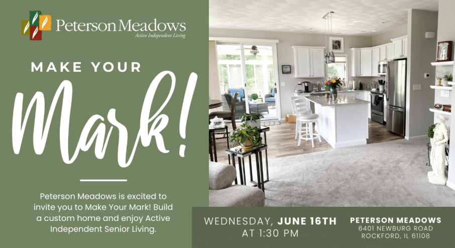 Peterson Meadows – Build a custom home and enjoy Active Independent Senior Living